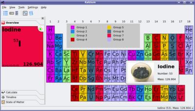 Kalzium in KDE 3.5.5