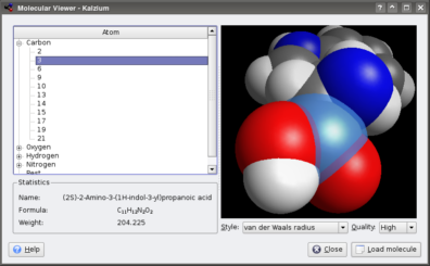Kalzium 3d in KDE 4x devel